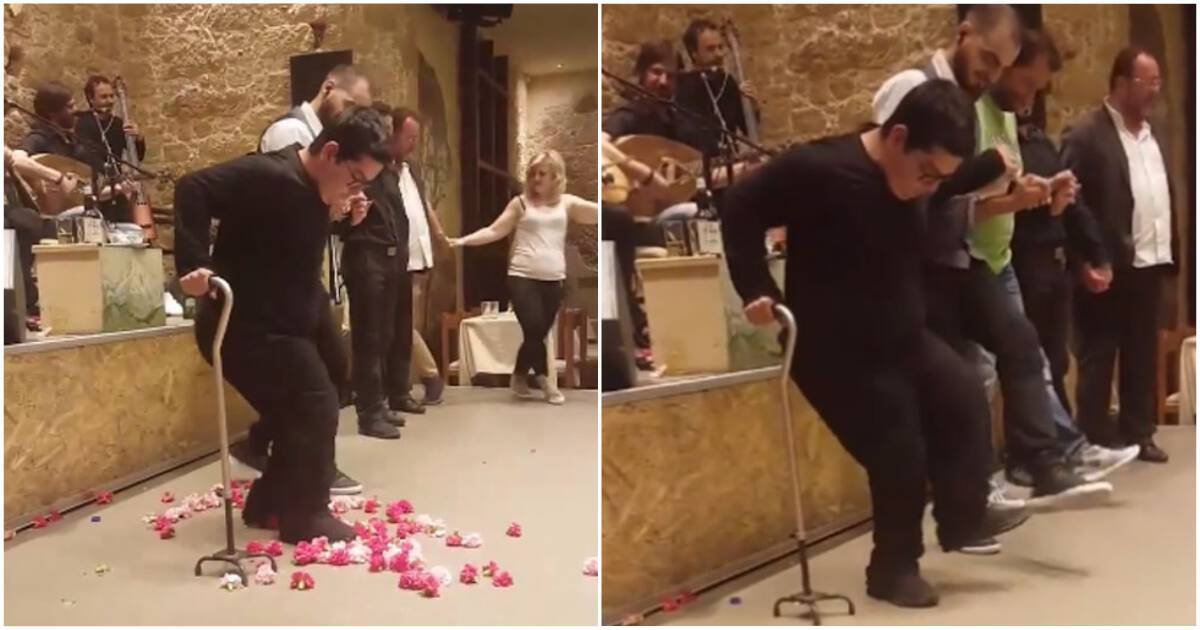 a678813d8cd Κρητικός ΑμεΑ σέρνει πρώτος τον χορό και μας δείχνει τι πάει να πει κρητική  ψυχή!!!-BINTEO