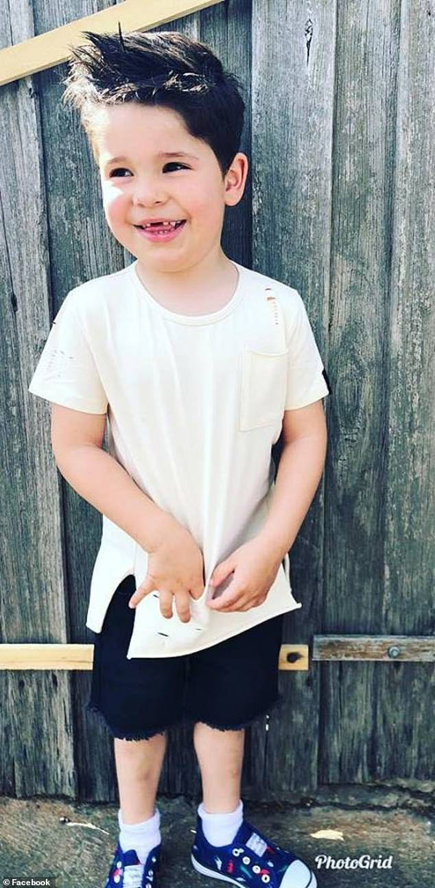 Laura revealed on Facebook on Tuesday how her son Luca (pictured), now four, told her he lived in her tummy, died, became an angel and returned